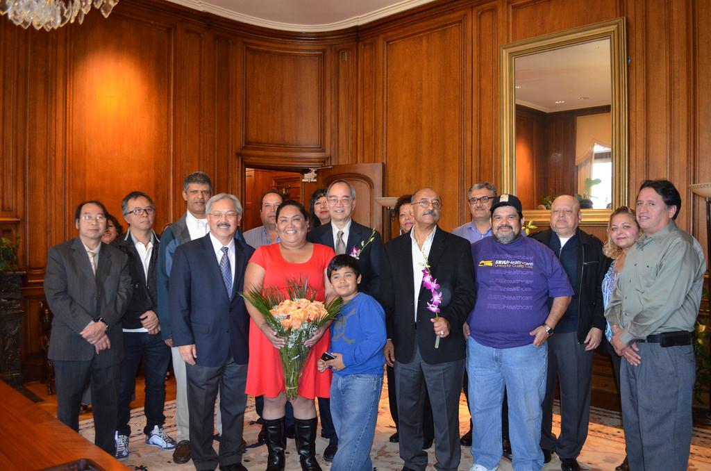 Corrupt SF Mayor Lee's Ally SEIU 87 Pres Miranda Physically