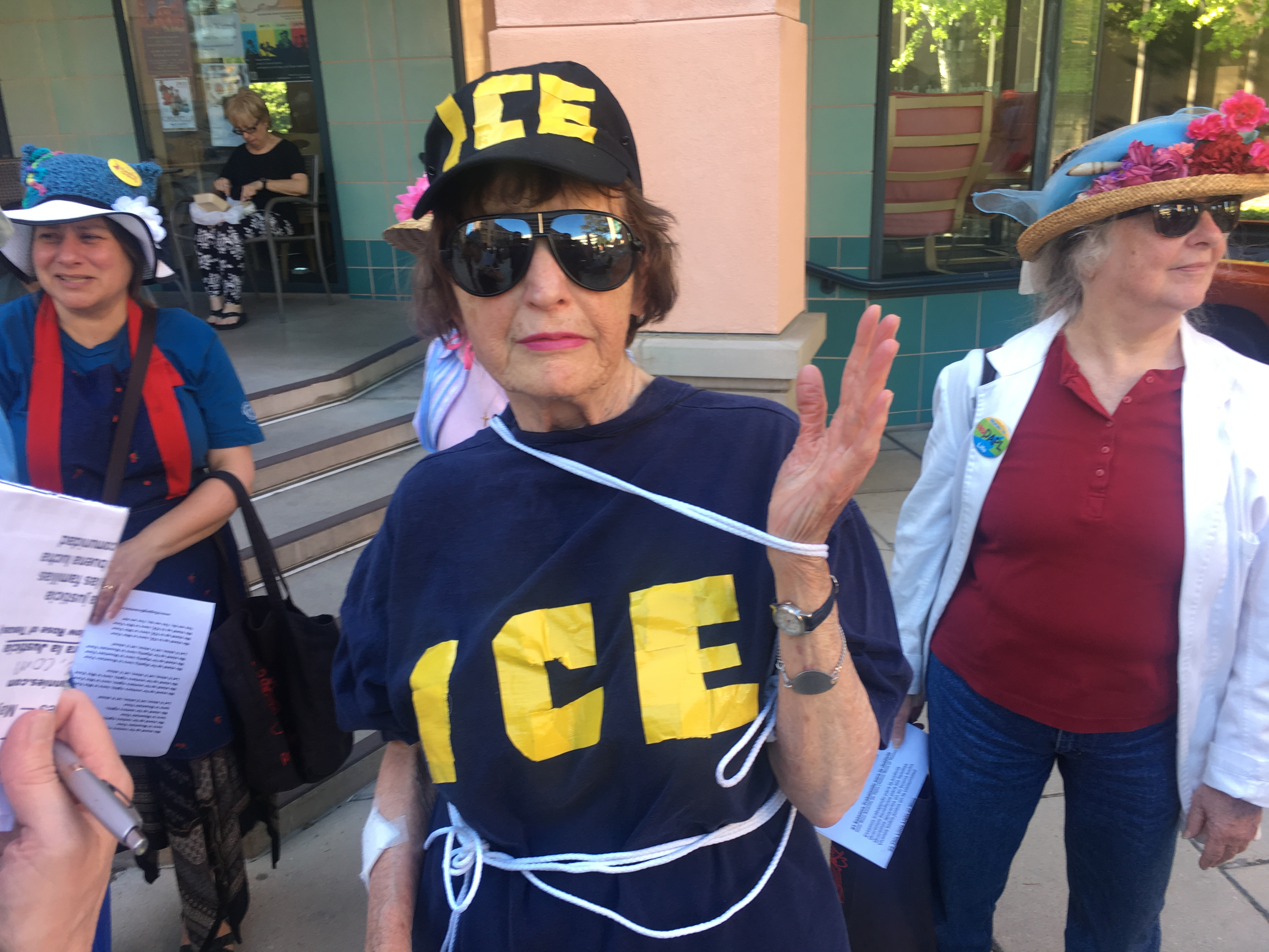 Signs and Skit Against ICE in Mountain View : Indybay