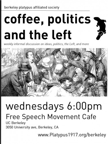 Coffee Break: Informal Discussion on Politics & The Left