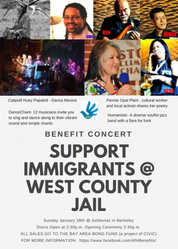 Support ICE Detainees in West County Jail Facility - Benefit Concert @ Ashkenaz | Berkeley | California | United States