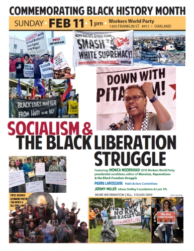 Socialism and the Black Liberation Struggle @ Workers World | Oakland | California | United States