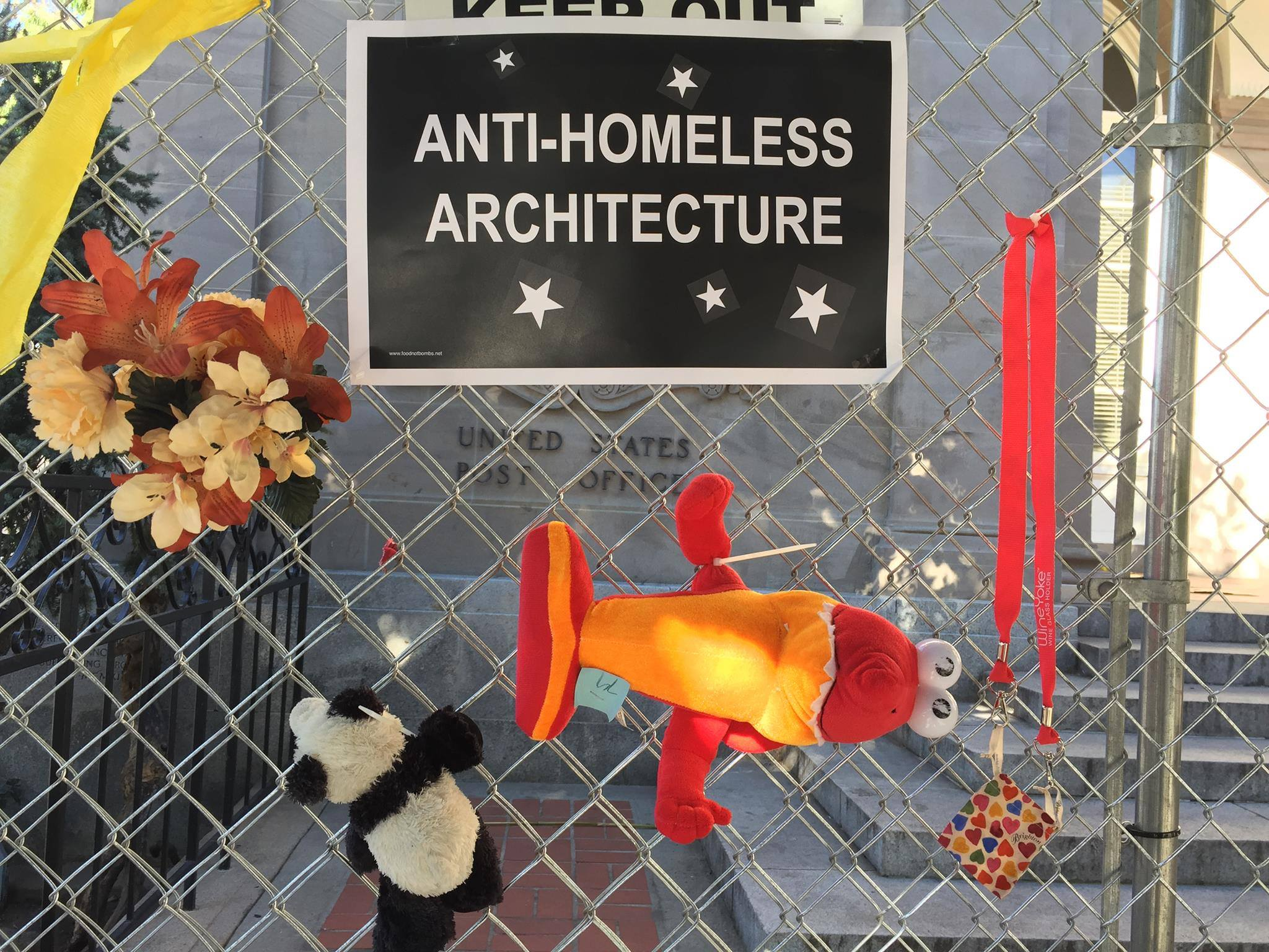 Anniversary Of The Anti Homeless Fence Decorating Party