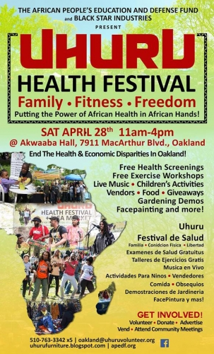 Uhuru Health Festival @ Akwaaba Hall | Oakland | California | United States