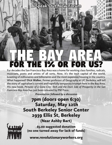 The Bay Area - For the 1% or for us? @ South Berkeley Senior Center | Berkeley | California | United States