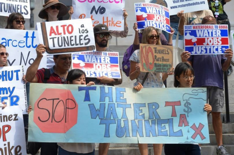 Coalition Protests Delta Tunnels Tax as MWD Revotes on $11 Billion to finance WaterFix