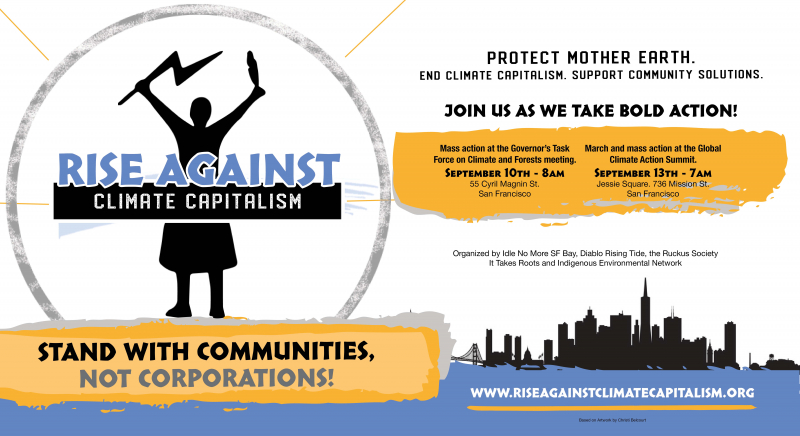 Rise Against Climate Capitalism Schedule of Events and Trainings