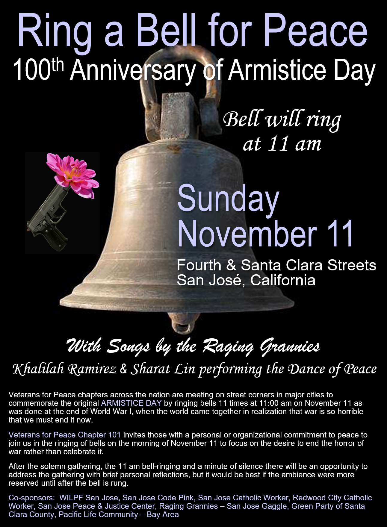 100th Anniversary of Armistice Day -- Ring a Bell for ...