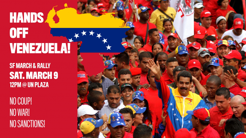 March & Rally: Hands Off Venezuela! NO coup - NO war - NO sanctions! @ UN Plaza