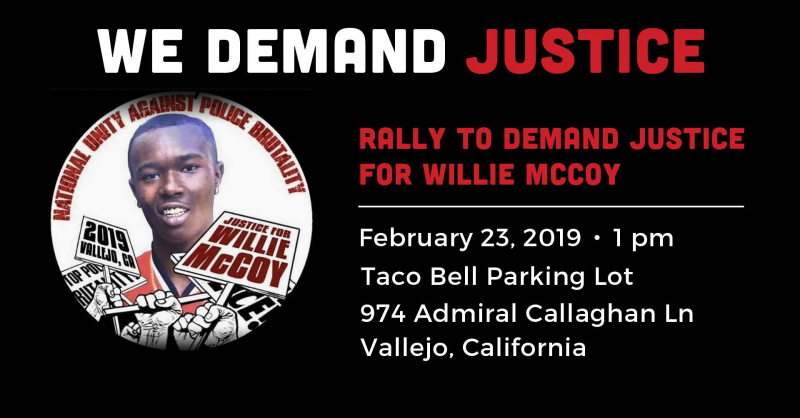 Rally to Demand Justice for Willie McCoy @ Taco Bell