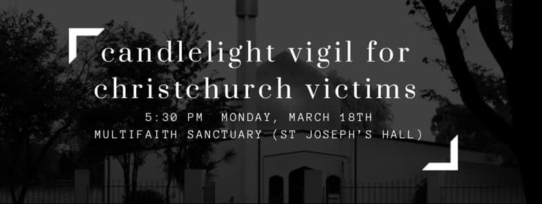 Christchurch Massacre Detail: Vigil For Victims Of Christchurch Mosques Massacre (Santa