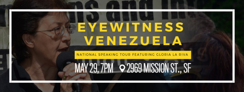 Forum: Eyewitness Venezuela with Gloria La Riva