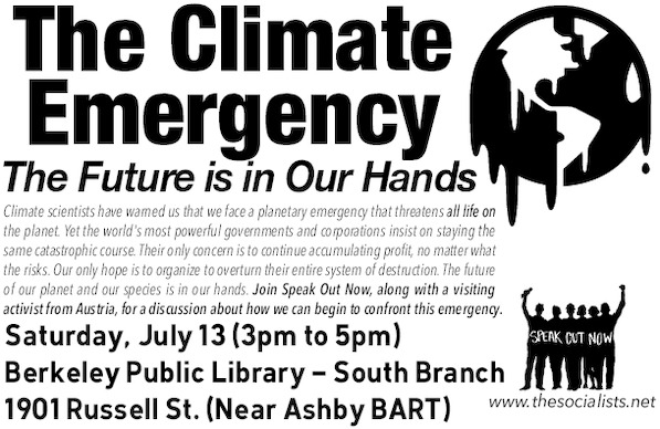 The Climate Emergency: The Future is in Our Hands @ South Berkeley Public Library