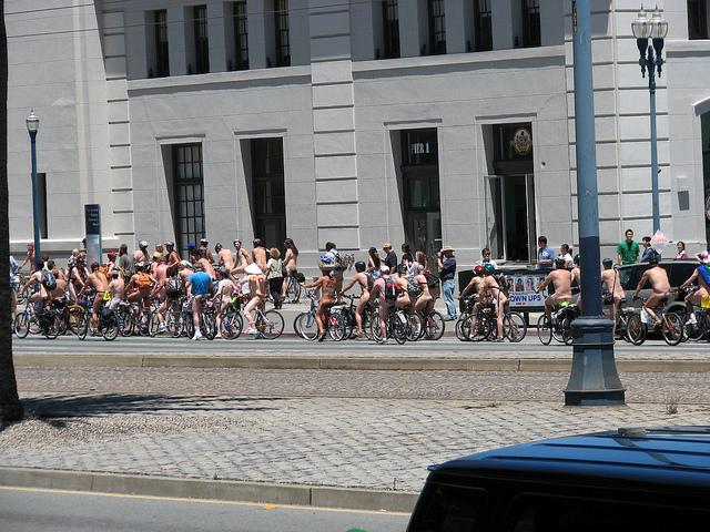 12th Annual World Naked Bike Ride - San Francisco Northern