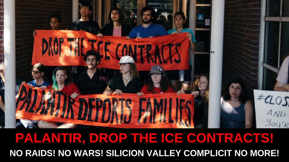 DisarmICE Rally: Palantir, Drop the ICE Contracts! Protest