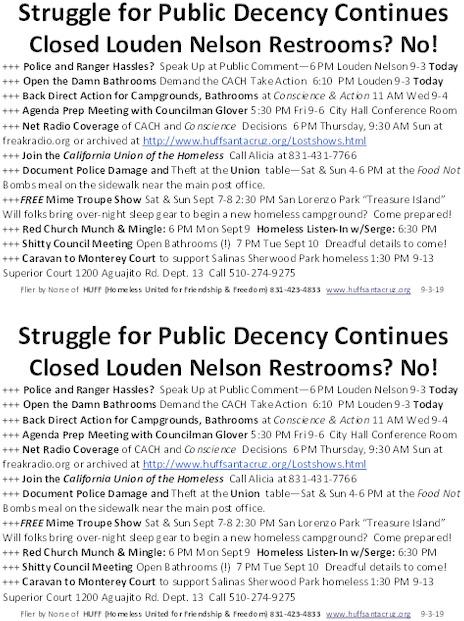 Demonstrators Keep the Restrooms Open at Louden Nelson