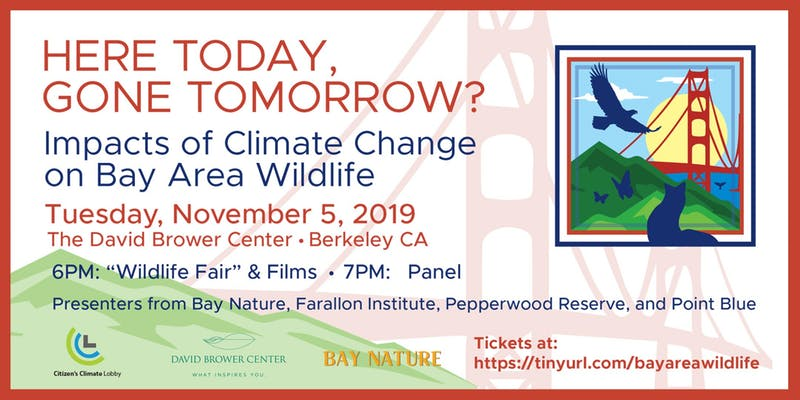 Here Today Gone Tomorrow? Effects of Climate Change on Bay Area Wildlife