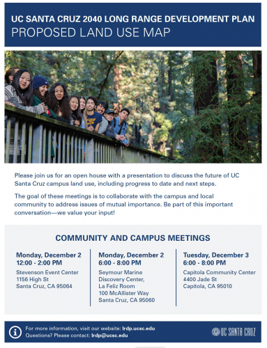 UC Santa Cruz to Discuss Future Land Use During Series of Community