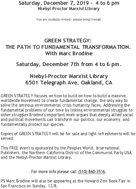 Green Strategy: The Path to Fundamental Transformation. @ Niebyl Proctor Library