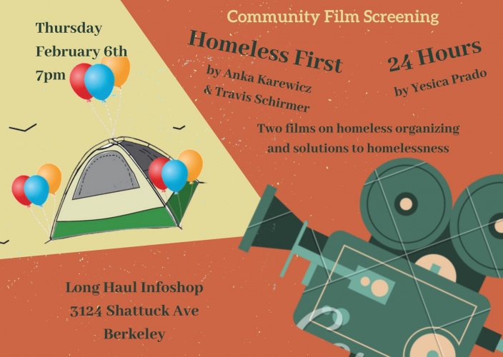 "Community Film Screenings:  ""Homeless First"" & ""24 Hours"" @ Longhaul"
