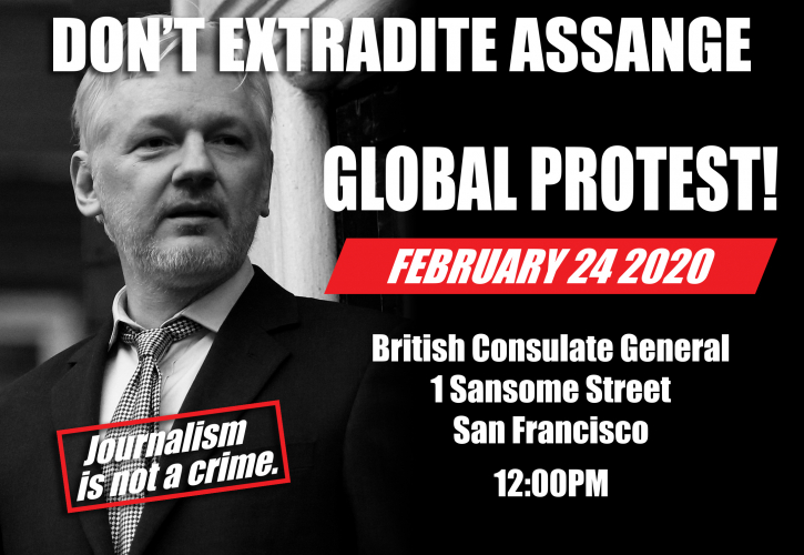 International Day Of Action To Free Julian Assange & Chelsea Manning @ UK Consulate