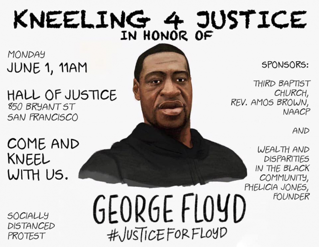 Kneeling 4 Justice - to honor George Floyd @ Hall of Injustice