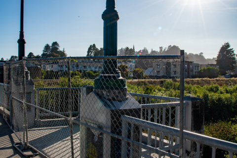 480_defund_santa_cruz_police_scpd_march__13_san_lorenzo_river_water_street_bridge_viewing_platform_fence_homeless.jpg
