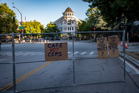 480_defund_santa_cruz_police_scpd_march__18_town_clock_blockade_anti_homeless_fencing.jpg