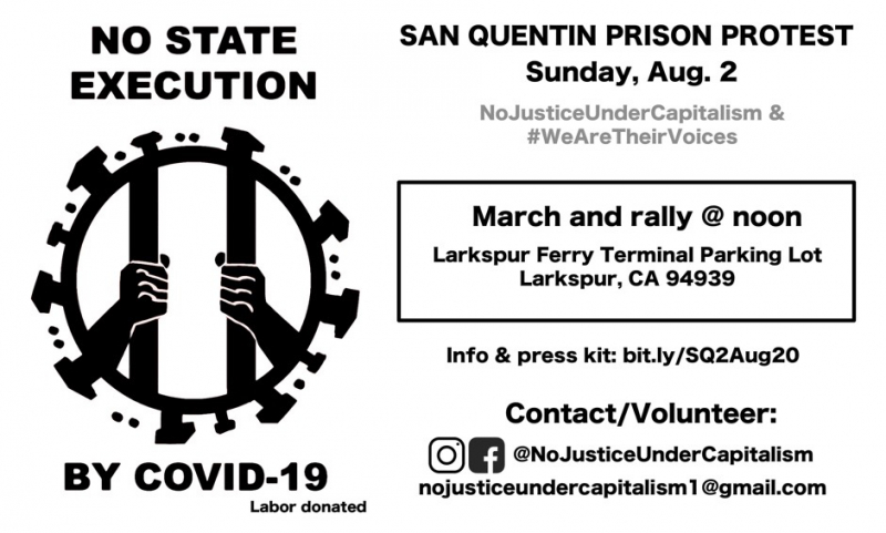San Quentin Prison Protest: No State Execution by COVID-19 @ Larkspur Ferry Terminal Parking Lot
