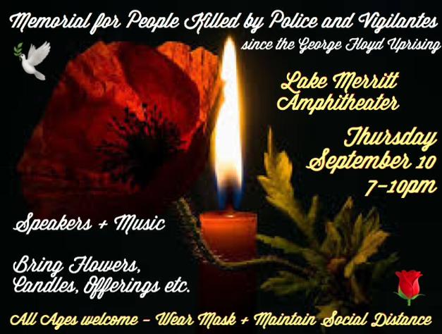 POSTPONED FOR A WEEK: Memorial for People Killed by Police and Vigilantes @ Lake Merritt Amphitheater