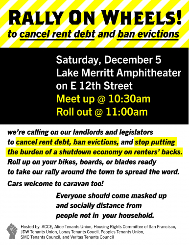 A Mobile Protest to Ban Evictions and Cancel Rent Debt @ Lake Merritt Amphitheater