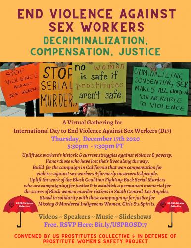 End Violence Against Sex Workers: Decriminalization, Justice & Compensation @ Online