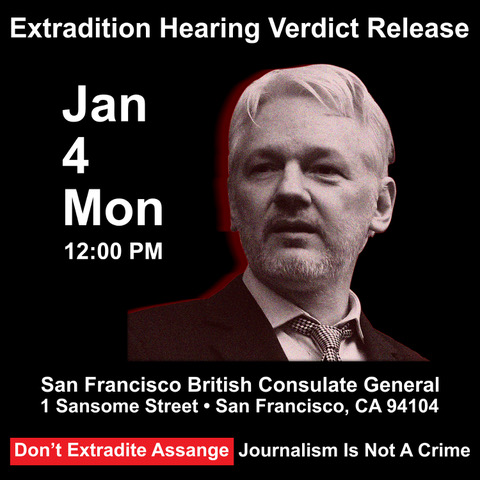 Drop The Charges Against Assange & Snowden: Free Them NOW! @ British Consulate