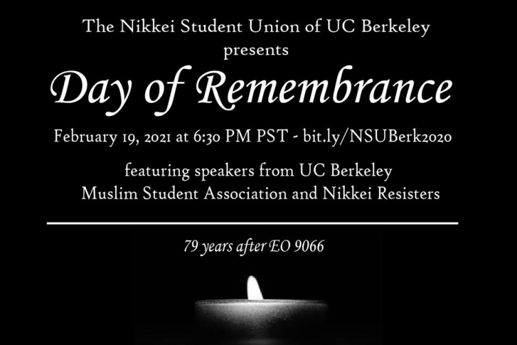 UC Berkeley Day of Remembrance of E.O. 9066 Japanese American Prison Camps WWII