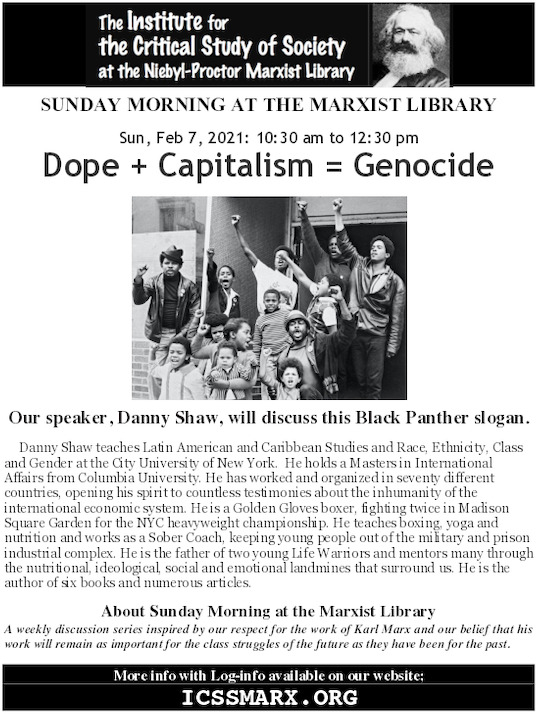 Dope + Capitalism = Genocide @ Online