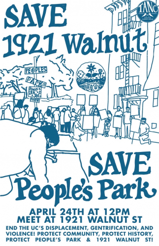 Save 1921 Walnut, Save People's Park!