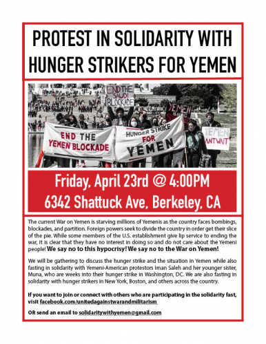 Protest in Solidarity With Hunger Strikers for Yemen