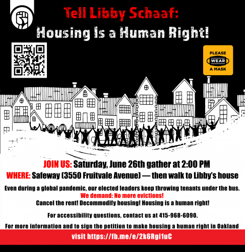 Tell Libby Schaaf: Housing is a Human Right! @ Safeway, then walk to Libby's house