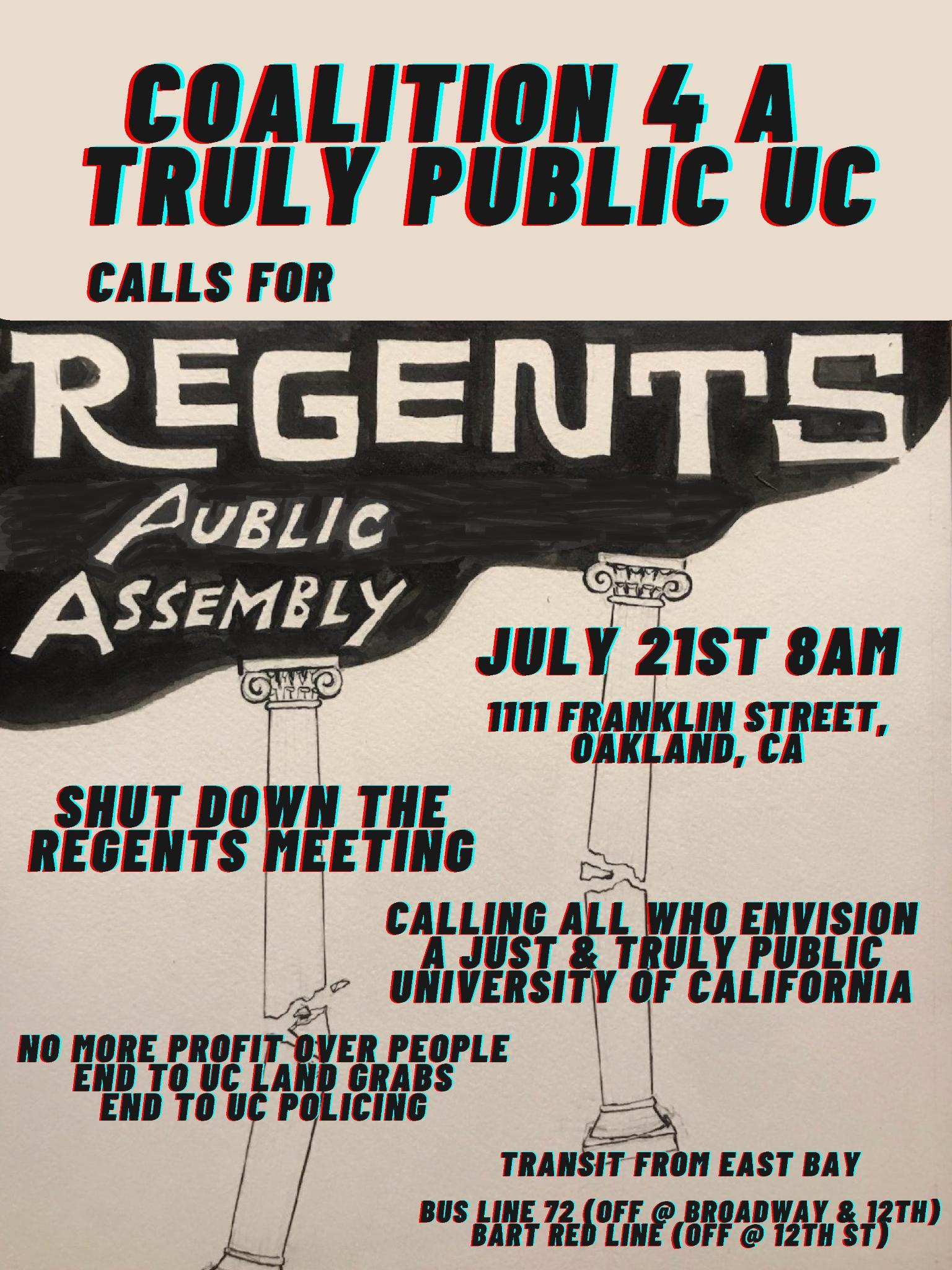 UC Regents Public Assembly
