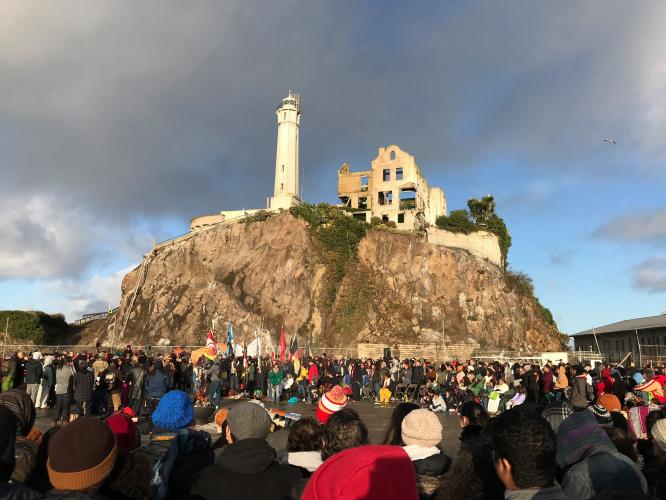 Annual Alcatraz Sunrise Ceremony on Indigenous People's Day (broadcast) @ Radio broadcast on KPFA 94.1 FM or IITC Facebook page