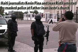 Kevin Pina Filming Haitian Police