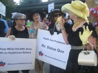 Billionaires for Wealthcare Defuse Town Hall Tensions
