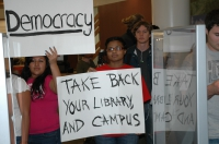 Students Takeover CSU-Fresno Library