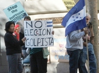 Pickets Protest Election at Honduran Consulate in S. F.