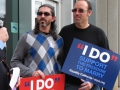 Same Sex Couples Try to Apply for Marriage Licenses in San Mateo