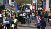 Thousands Rally in Front of Senator Feinstein's to Demand Immigration Reform in 2010