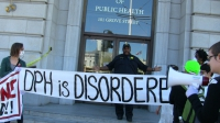 Protest at Department of Public Health After Closure of LGBTQI Services Center