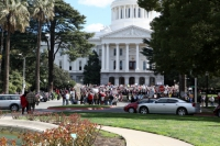 Californians Demonstrate in Solidarity with Wisconsin