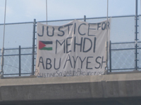 """Justice for Mehdi Aby Ayyash"" in Berkeley"