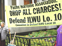 Rally Defends ILWU's Right to Close Bay Area Ports