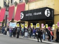 Hotel Frank Employees and Allies Unite to Fight for Workers' Rights